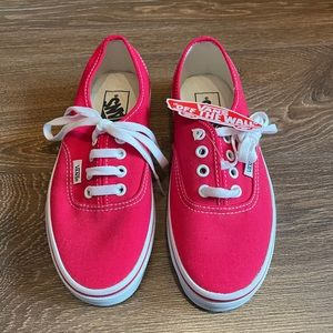 Vans sneakers woman's red NEW size 5.5